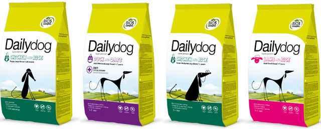 Обзор кормов от фирмы «Дейли Дог» (daily dog): описание компонентного состава